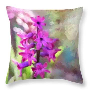 Hyacinth Throw Pillow by Louise Lavallee
