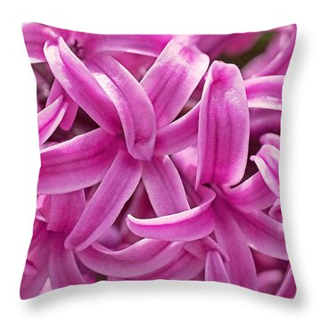 Hyacinth Pink Pearl Throw Pillow by Rona Black