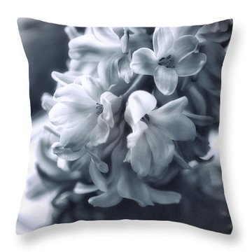 Hyacinth Plated Throw Pillow by Susan Capuano