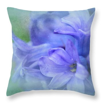 Throw Pillow featuring the photograph Hyacinths Of Spring by Elaine Manley