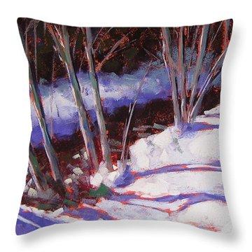Hyak Stream Throw Pillow by Mary McInnis