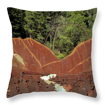 Hyalite Canyon Sculpture Throw Pillow