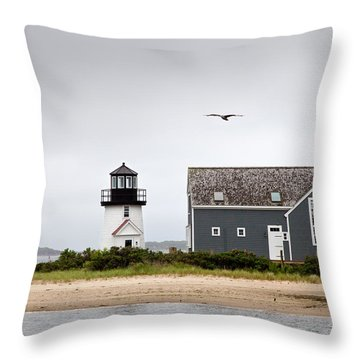 Hyannis Harbor Lighthouse Cape Cod Massachusetts Throw Pillow