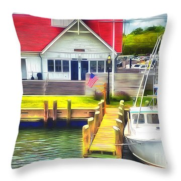 Hyannis The Coastguard Throw Pillow