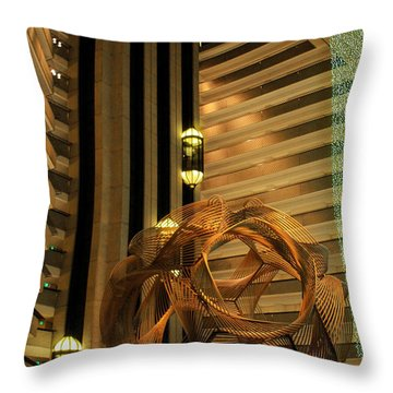 Hyatt Regency Sf Atrium Throw Pillow