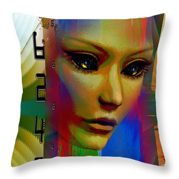 Throw Pillow featuring the digital art Hybrid by Shadowlea Is