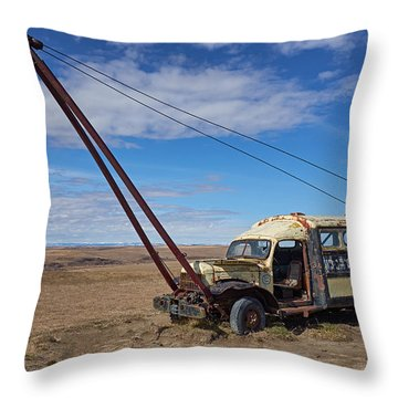 Hybrid Vehicle Throw Pillow by Trever Miller