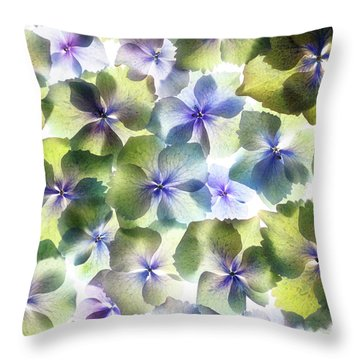 Throw Pillow featuring the photograph Hydrangae Squared by Rebecca Cozart
