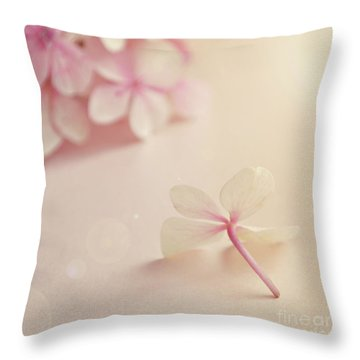 Throw Pillow featuring the photograph Hydrangea Flower by Lyn Randle