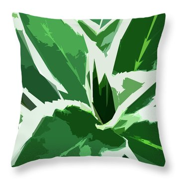 Throw Pillow featuring the digital art Hydrangea by Gina Harrison