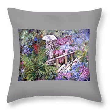 Hydrangea In The Formosa Gardens Throw Pillow