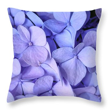 Throw Pillow featuring the photograph Hydrangea by Kerri Farley