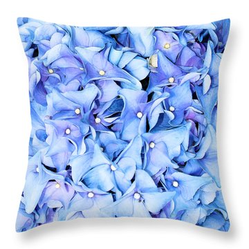 Throw Pillow featuring the photograph Hydrangea by Kristin Elmquist