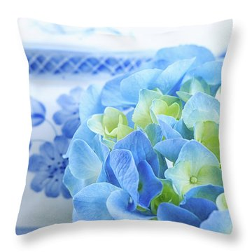 Hydrangea Memories Throw Pillow