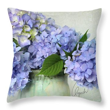 Hydrangea Signed Throw Pillow