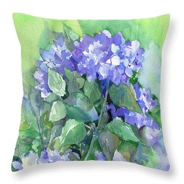 Hydrangea Throw Pillow by Suren Nersisyan