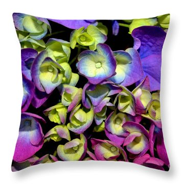 Hydrangea Throw Pillow by Vivian Krug Cotton