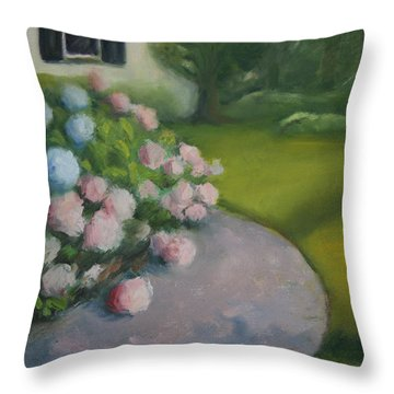 Hydrangeas Throw Pillow by Linda Anderson