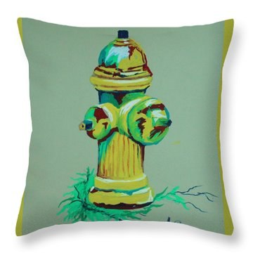 Hydrant Throw Pillow