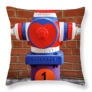 Throw Pillow featuring the photograph Hydrant Number One by James Eddy