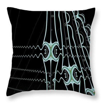Throw Pillow featuring the digital art Hydras by Dragica  Micki Fortuna