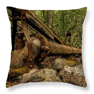 Hydraulic Monitor Throw Pillow