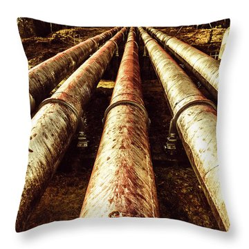 Hydroelectric Pipeline Throw Pillow