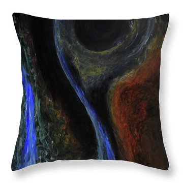 Hydrogen Fiend Throw Pillow by Christophe Ennis