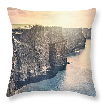 Hymn Of The Cliffs Throw Pillow