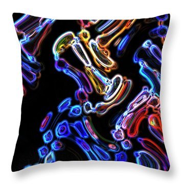 Hyper Oil Paint Throw Pillow