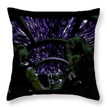 Hyper Space Throw Pillow by George Pedro