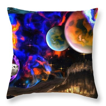 Hyperactivity Sector X66 In The Andromeda Gallaxy Throw Pillow