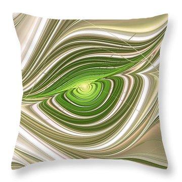 Throw Pillow featuring the digital art Hypnotic Eye by Anastasiya Malakhova