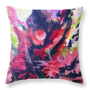 Hypnotic Haze Throw Pillow