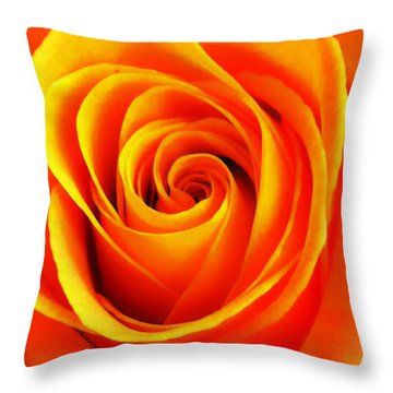 Hypnotic Orange Throw Pillow