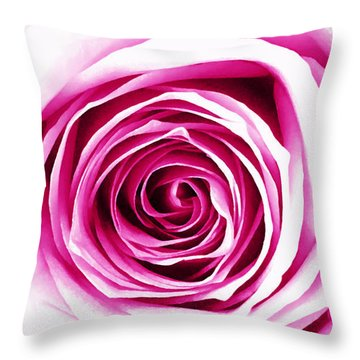 Hypnotic Pink Throw Pillow