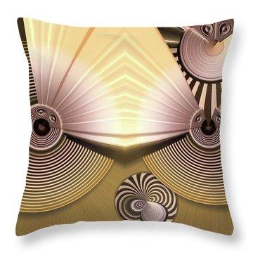 Hypnotic Throw Pillow by Ron Bissett