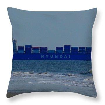 Hyundai Ship Throw Pillow
