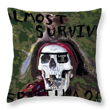I Almost Survived Throw Pillow by David Lee Thompson