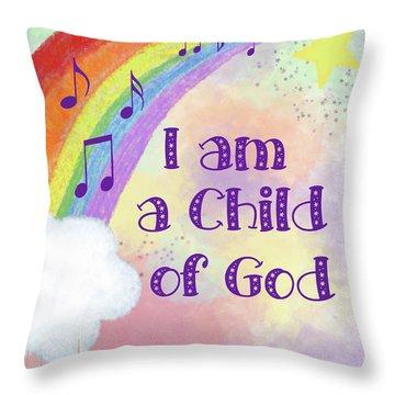 I Am A Child Of God 2 Throw Pillow