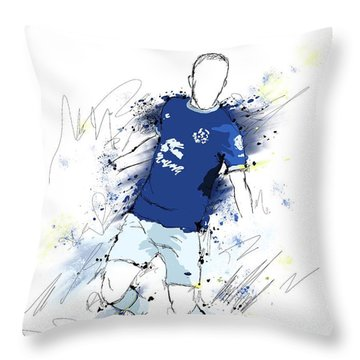 I Am Blue And White Throw Pillow