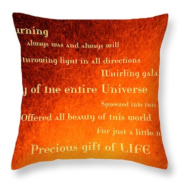 I Am Burning Throw Pillow