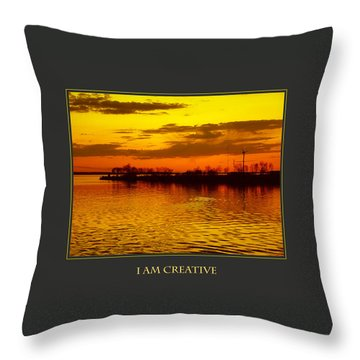 I Am Creative Throw Pillow by Donna Corless