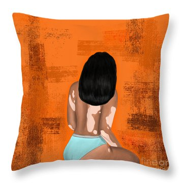 Throw Pillow featuring the digital art I Am Enough by Bria Elyce