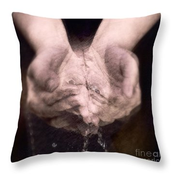 Throw Pillow featuring the digital art I Am Facing You by Delona Seserman