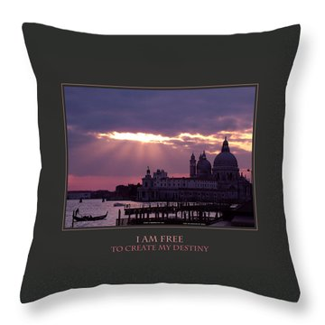 I Am Free To Create My Destiny Throw Pillow by Donna Corless