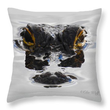 I Am Gator Throw Pillow