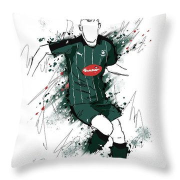 I Am Green And Black Throw Pillow