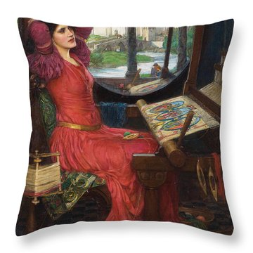 I Am Half-sick Of Shadows, Said The Lady Of Shalott Throw Pillow