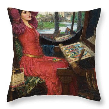 I Am Half Sick Of Shadows Said The Lady Of Shalott Throw Pillow